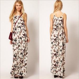 2013-New-Fashion-Elegant-Beach-Butterfly-Print-Maxi-Long-Dress-Pleated-Slim-Vintage-Casual-Strap-Dress