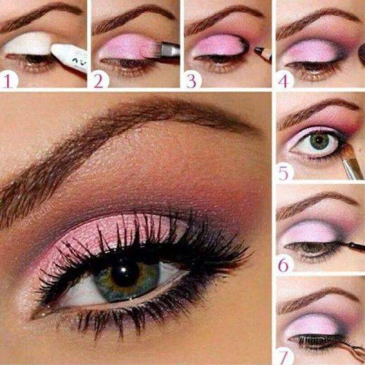 Tonos rosa en tus ojos