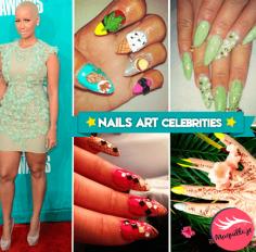 Nail Art: Las celebs nos muestran sus diseños de uñas.