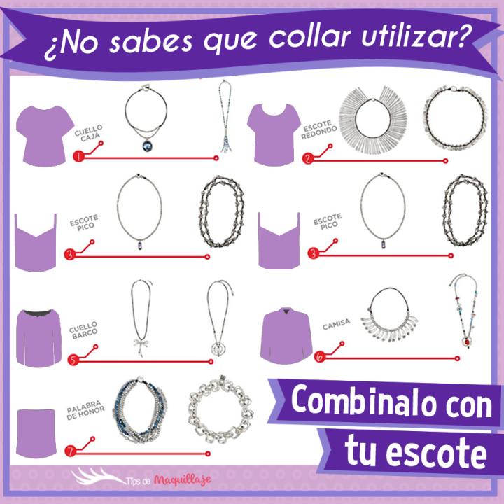 Cómo elegir el collar correcto según el tipo de escote