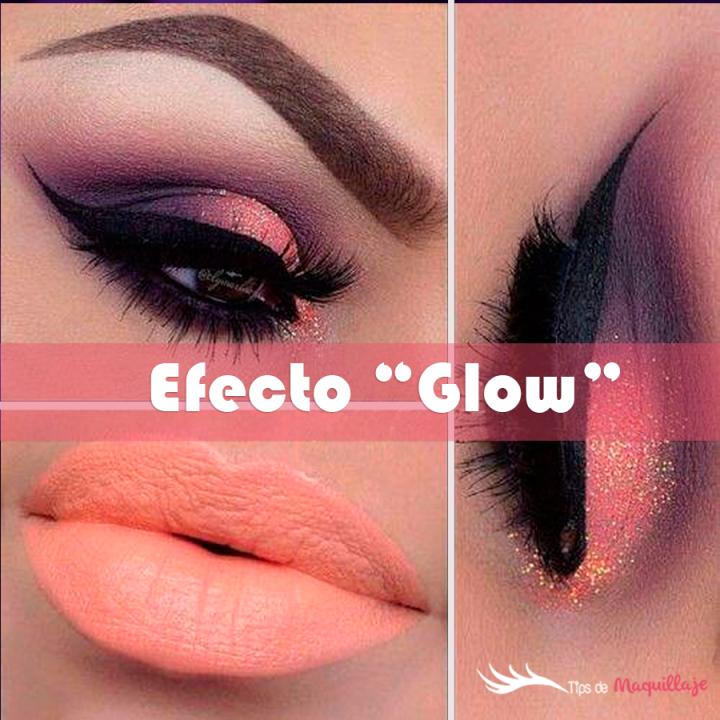 Maquillaje luminoso y colorido