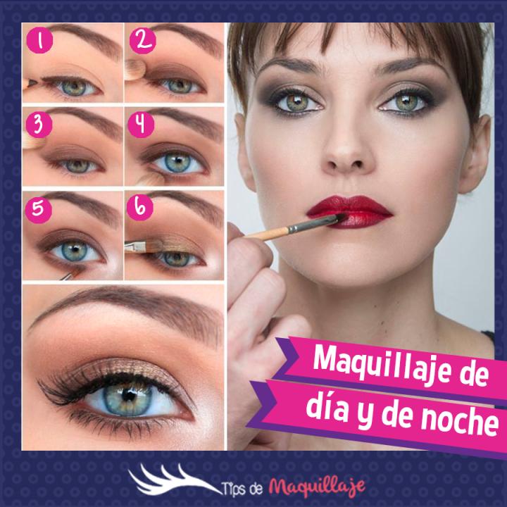 Tutorial de maquillaje día y noche