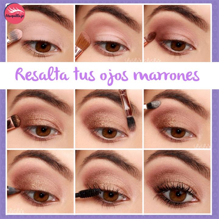 Maquillaje para ojos marrones. ¡Qué tonos lucirán mejor para ti!