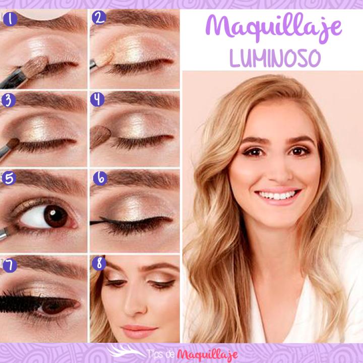 Maquillaje luminoso