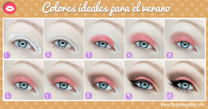 Maquillaje en colores pastel