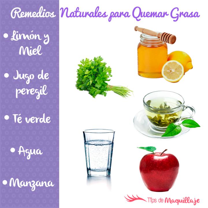 Remedios naturales que queman grasa rápidamente