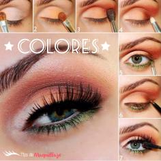 Maquillaje colorido «Combinación perfecta»
