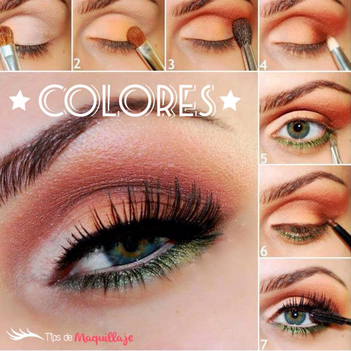 "Maquillaje colorido ""Combinación perfecta"""
