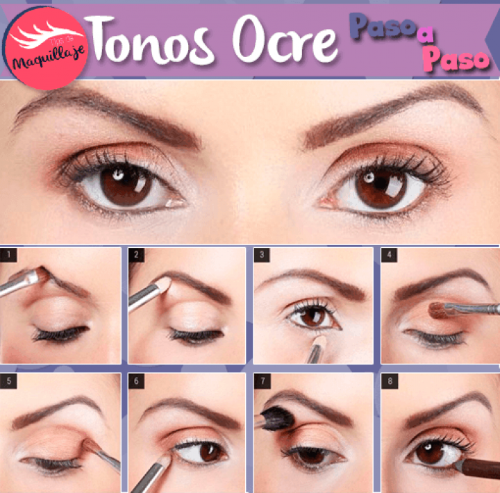Maquillaje en tonos Ocre