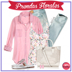 10 Maneras de Vestir prendas con Flores – Outfits