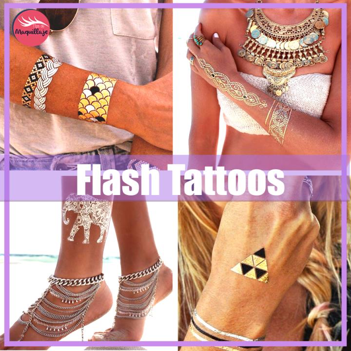 Flash Tattoos: los tatuajes temporales que nos han conquistado