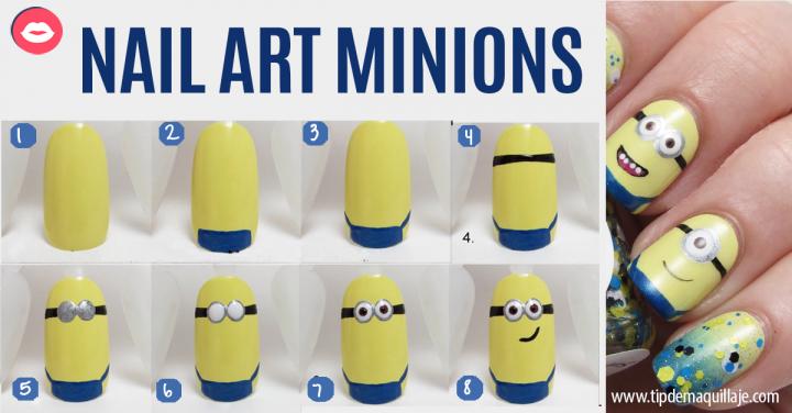 ¿Los minions son tu perdición? ¡Aprende este sencillo nail art!